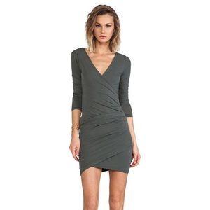 VEUC James Perse Skinny Wrap Tuck Sheath dress
